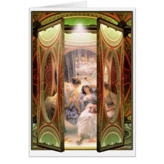Open Door to The Baths Card