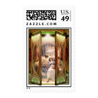Open Door to The Baths Postage