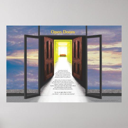Open Doors (Break In Clouds) by Joseph James Poster