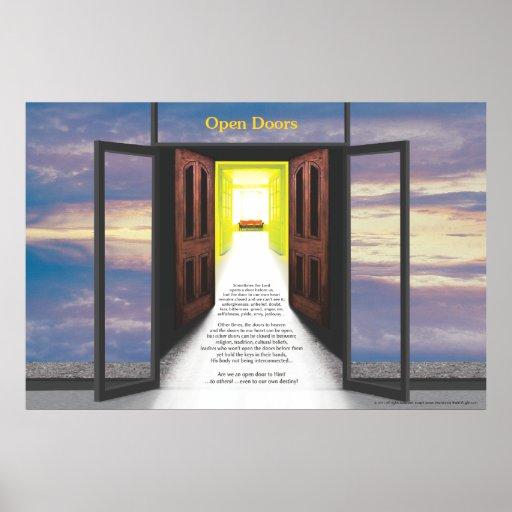 Open Doors (Break In Clouds) by Joseph James Posters