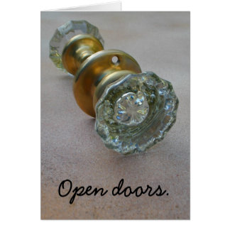 Open doors. card