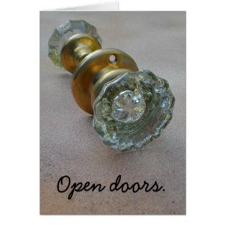 Open doors. greeting card