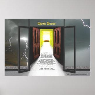 Open Doors (Lightning) by Joseph James Poster