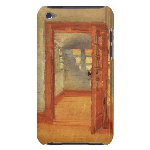Open doors sunny impressionist art interior Ancher iPod Touch Case