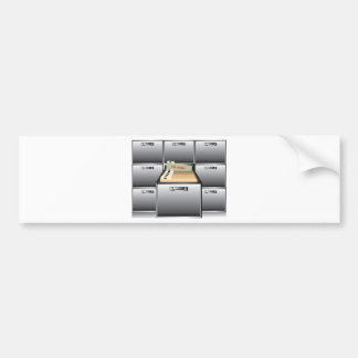 Open Drawer with Top Secret File Bumper Sticker