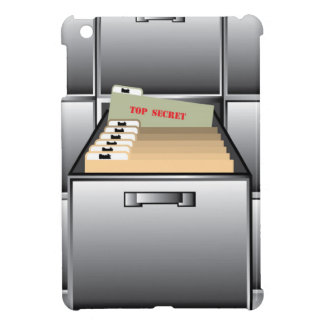 Open Drawer with Top Secret File Cover For The iPad Mini