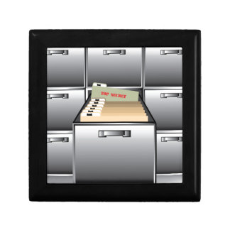 Open Drawer with Top Secret File Gift Box