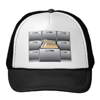 Open Drawer with Top Secret File Trucker Hat