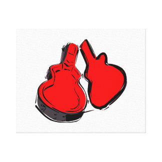 open empty guitar case red.png canvas print