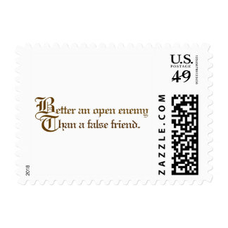 Open Enemy, False Friend Proverb Stamp
