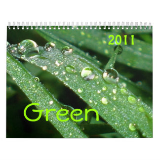 Open eyes - Green Calendar