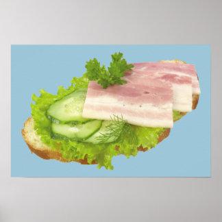 Open Faced Sandwich Poster