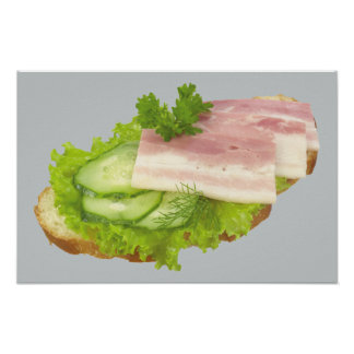 Open Faced Sandwich Poster