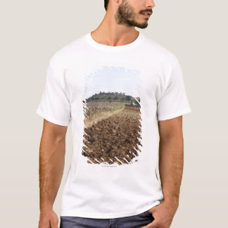 Open Field, Townscape in the Background, T-Shirt