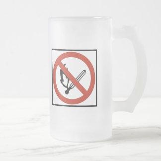 Open Flames Prohibition Highway Sign Mug