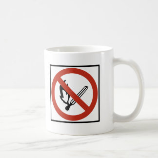 Open Flames Prohibition Highway Sign Coffee Mug