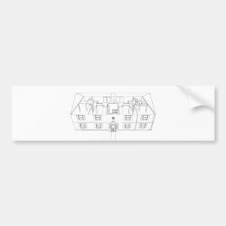 Open Floorplan Drawing: Bumper Sticker