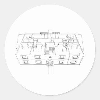 Open Floorplan Drawing: Round Stickers