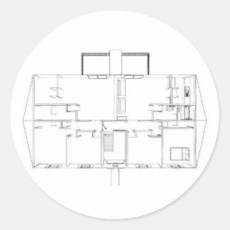 Open Floorplan Drawing: Sticker