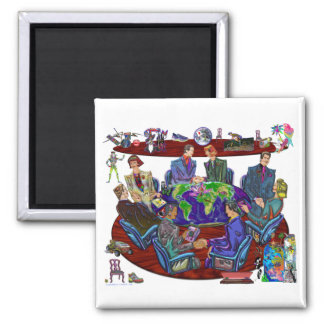 Open for business 2 inch square magnet
