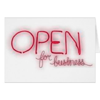 Open for business - Aberto Card