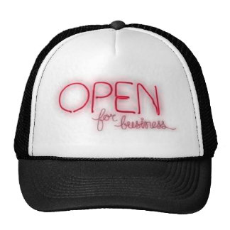 Open for business - Aberto Mesh Hat
