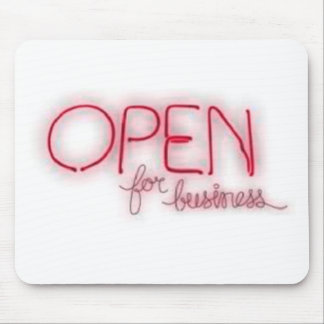 Open for business - Aberto Mouse Pad