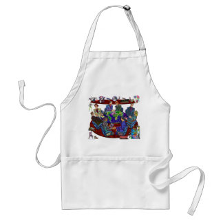 Open for business adult apron
