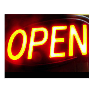 Open for business announcement post card advertise