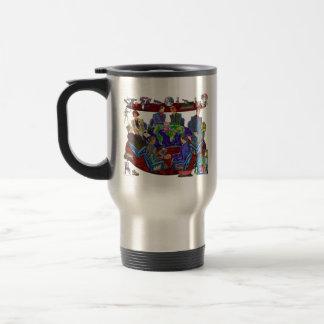Open for business travel mug