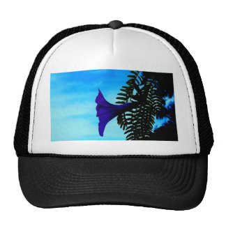 open for love flower coconut tree mesh hats