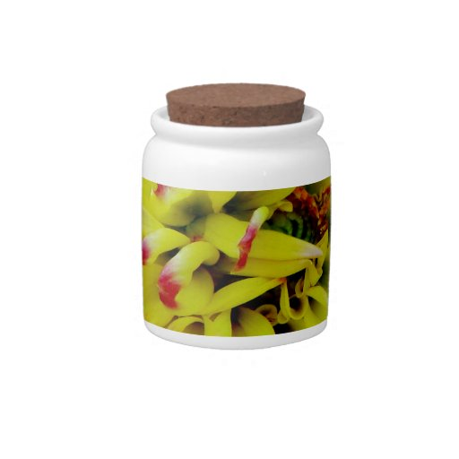 Open for love pink flower candy jars