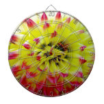 Open for love pink flower dartboard with darts