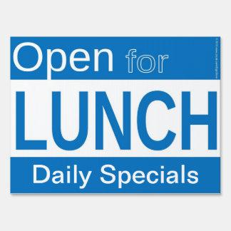Open For Lunch Restaurant Sign