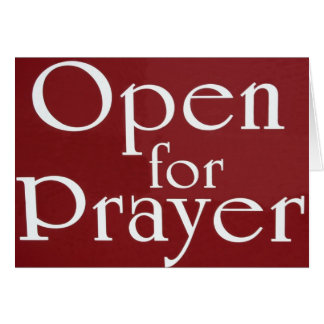 Open For Prayer Sign Stationery Note Card