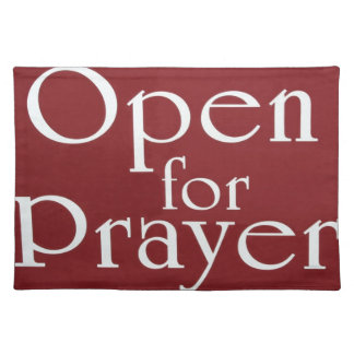 Open For Prayer Sign Placemat