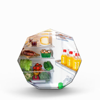 Open fridge filled with food award