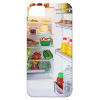 Open fridge filled with food iPhone SE/5/5s case