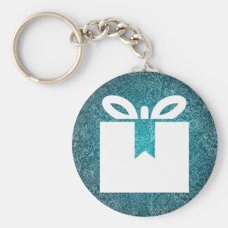 Open Giftboxes Symbol Basic Round Button Keychain