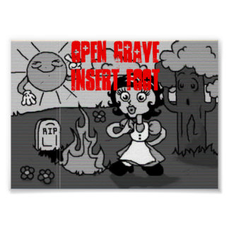 Open Grave Insert Foot Poster