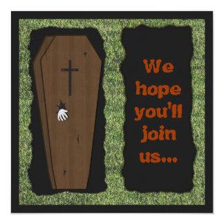 Open Graves Halloween Party Invitation