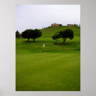 Open Green Poster