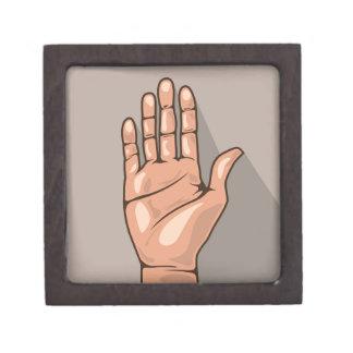 Open hand vector gift box