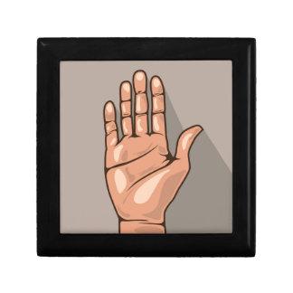 Open hand vector keepsake box