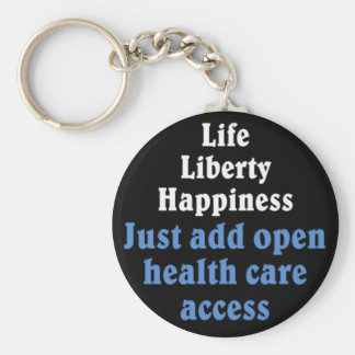 Open healthcare access 2 basic round button keychain