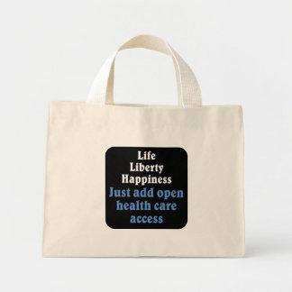 Open healthcare access 2 mini tote bag
