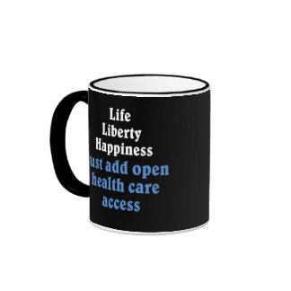 Open healthcare access 2 ringer coffee mug