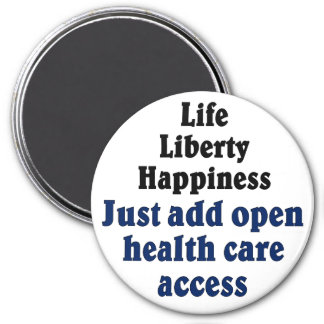 Open healthcare access 3 inch round magnet