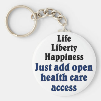 Open healthcare access basic round button keychain