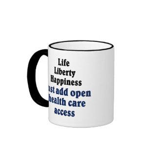 Open healthcare access ringer coffee mug